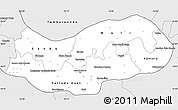 Silver Style Simple Map of Upper River