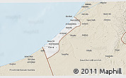 Classic Style 3D Map of Gaza Strip
