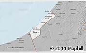 Gray 3D Map of Gaza Strip