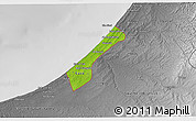 Physical 3D Map of Gaza Strip, desaturated
