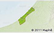 Physical 3D Map of Gaza Strip, lighten