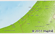 Physical 3D Map of Gaza Strip