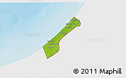 Physical 3D Map of Gaza Strip, single color outside