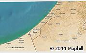 Satellite 3D Map of Gaza Strip
