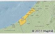 Savanna Style 3D Map of Gaza Strip