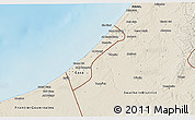 Shaded Relief 3D Map of Gaza Strip