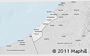 Silver Style 3D Map of Gaza Strip