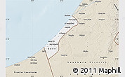 Classic Style Map of Gaza Strip