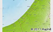 Physical Map of Gaza Strip