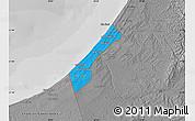 Political Map of Gaza Strip, desaturated