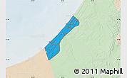 Political Map of Gaza Strip, lighten
