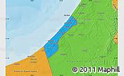 Political Map of Gaza Strip
