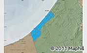 Political Map of Gaza Strip, semi-desaturated