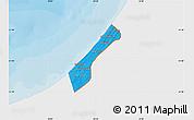 Political Map of Gaza Strip, single color outside