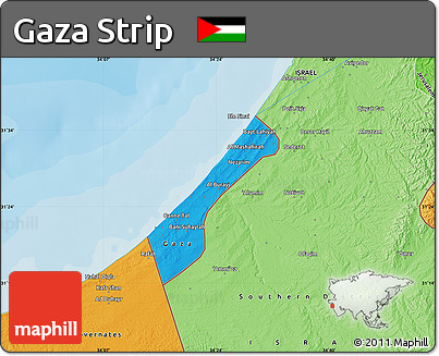 Political maps of gaza strip