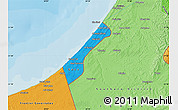 Political Shades Map of Gaza Strip