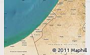Satellite Map of Gaza Strip