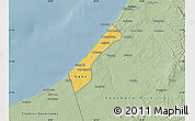 Savanna Style Map of Gaza Strip