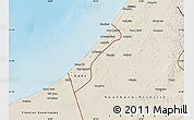 Shaded Relief Map of Gaza Strip