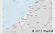 Silver Style Map of Gaza Strip