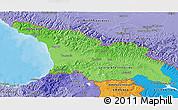 Political Shades 3D Map of Georgia