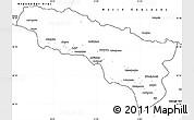 Blank Simple Map of Abkhaz ASSR