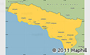 Savanna Style Simple Map of Abkhaz ASSR