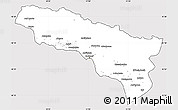 Silver Style Simple Map of Abkhaz ASSR, cropped outside