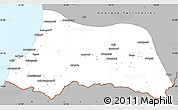 Gray Simple Map of Adzhar ASSR