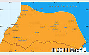 Political Simple Map of Adzhar ASSR
