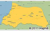 Savanna Style Simple Map of Adzhar ASSR