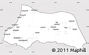 Silver Style Simple Map of Adzhar ASSR, cropped outside