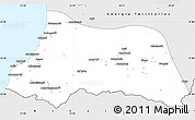 Silver Style Simple Map of Adzhar ASSR