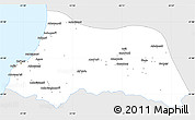 Silver Style Simple Map of Adzhar ASSR, single color outside