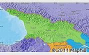 Political Shades Map of Georgia