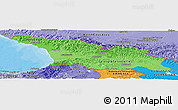 Political Shades Panoramic Map of Georgia