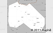 Gray Simple Map of S.Ossetian A.Obl