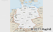 Classic Style 3D Map of Germany