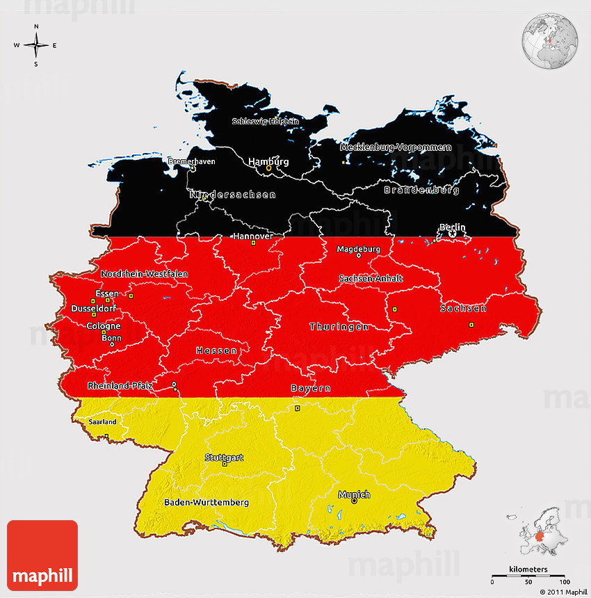Map Of Germany 3d.Flag 3d Map Of Germany
