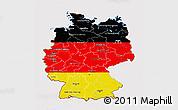 Flag 3D Map of Germany, flag centered