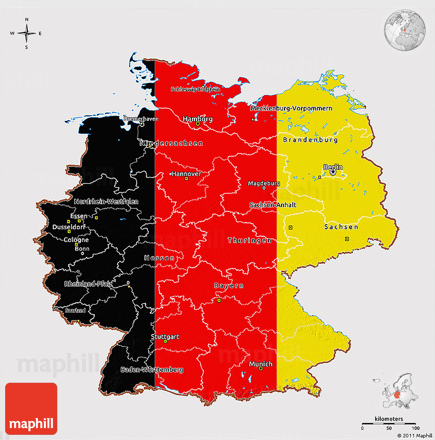 Map Of Germany 3d.Flag 3d Map Of Germany Flag Rotated