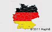 Flag 3D Map of Germany