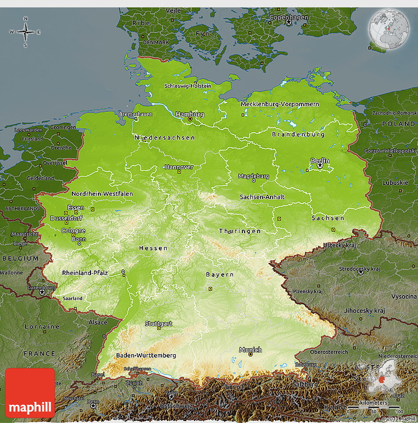Map Of Germany 3d.Physical 3d Map Of Germany Darken