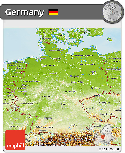 Map Of Germany 3d.Free Physical 3d Map Of Germany