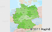 Political Shades 3D Map of Germany, lighten, land only