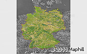 Satellite 3D Map of Germany, desaturated