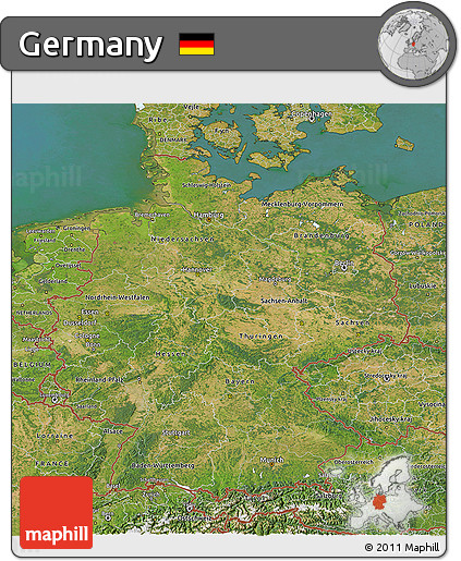 Satellite 3D Map of Germany