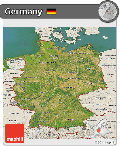 Map Of Germany 3d.Free Satellite 3d Map Of Germany Shaded Relief Outside Satellite Sea