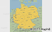 Savanna Style 3D Map of Germany