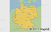 Savanna Style 3D Map of Germany, single color outside
